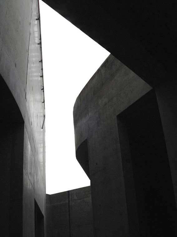 混凝土屋面富有动感的切口
