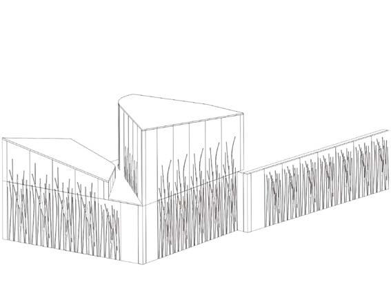 表面帶竹子紋理的預制混凝土設計