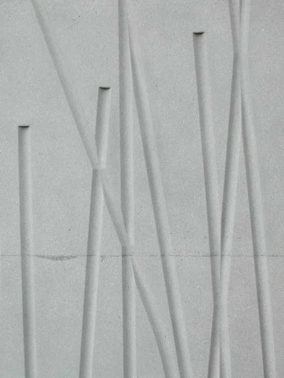 模板裂紋留在混凝土表面的痕跡
