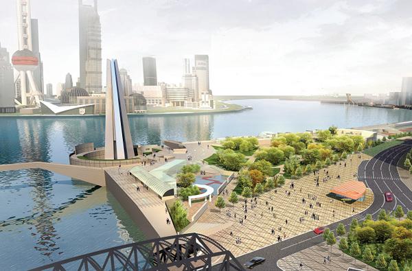 新黄浦江公园效果图 滨水休闲景观方案文本 设计方案大全