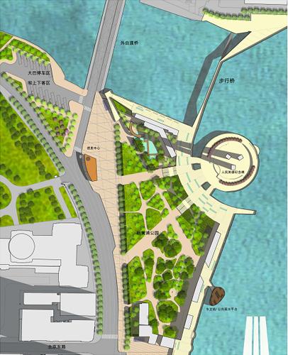 新黄浦江公园平面图
