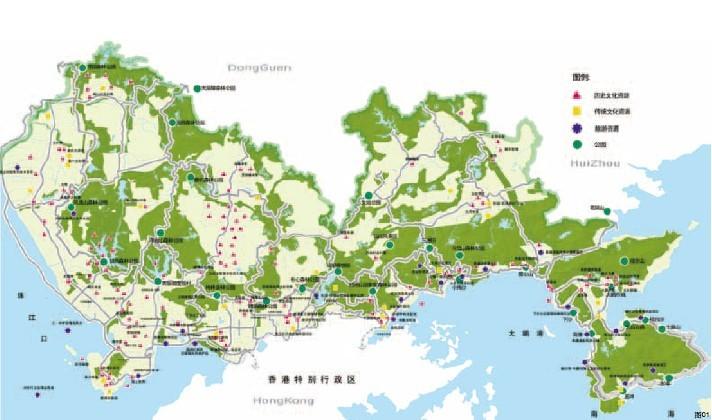 梧桐山风景区是一个以山体和自然植被为景观主体的