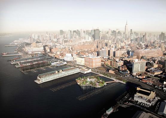 赫斯维克设计的纽约河上公园开始建设