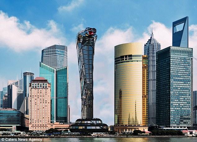 他认为,蛇是智慧的象征,蛇塔会吸引大批中东地区的开发人员.图片