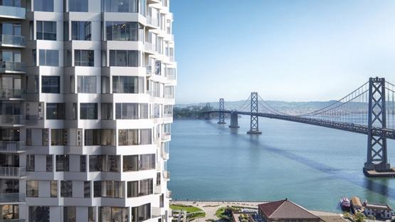 甘工作室在旧金山设计扭曲凸窗大厦