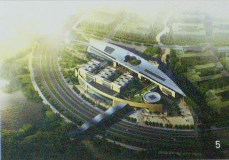 生活区综合中心 广州大学城的第四组团即广州大学组团,位于小谷围岛的